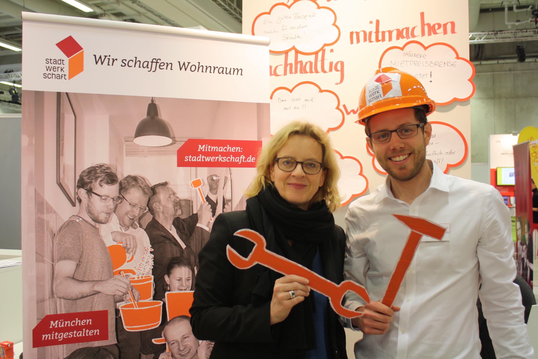 Auch Natascha Kohnen, frisch gewählte stellvertretende SPD-Bundesvorsitzende, informierte sich bei uns